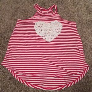 Other - Red and White Striped Top